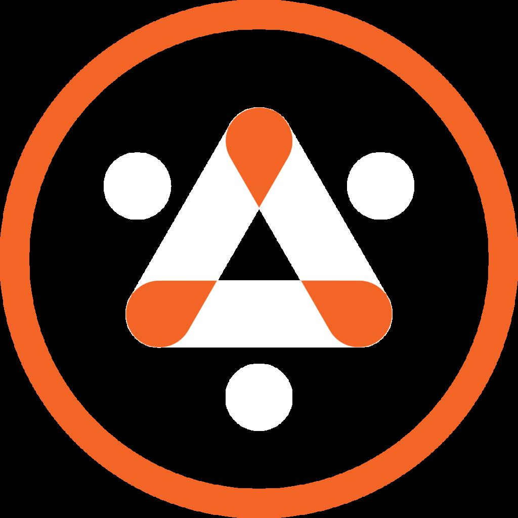 Logo #2 - lined - on black